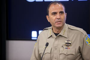 Maricopa County Sheriff Paul Penzone speaks during a news conference on July 9, 2020, at MCSO headquarters in Phoenix.