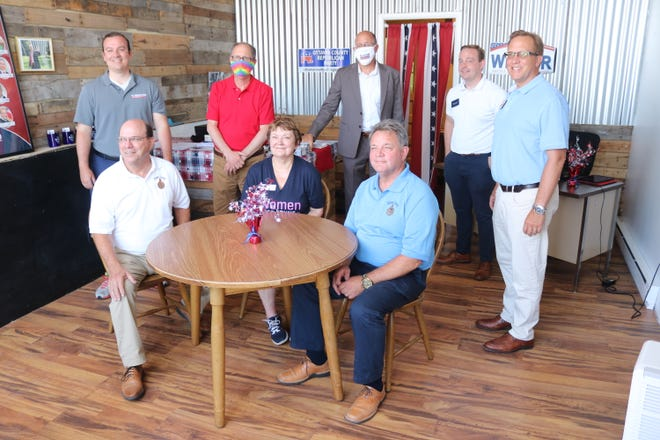 Republican candidates running for various state and local offices in the November election celebrated the opening of the Ottawa County GOP's new headquarters in downtown Port Clinton on Wednesday.