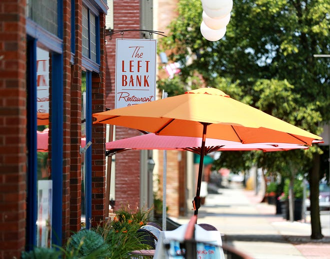 The Left Bank, which has been closed for nearly four months during the coronavirus pandemic, is shown on the first day of the restaurant's soft reopening in York City, Thursday, July 9, 2020. The 100 block of North George Street will be closed Friday evenings from 5:30 p.m. to 2 a.m. and both Saturdays and Sundays from 1 p.m. to 2 a.m., to allow the four restaurants, situated in what is known as Restaurant Row, to provide socially distanced outdoor seating to their patrons during the Covid-19 pandemic from July 10 to Sept. 7. Dawn J. Sagert photo