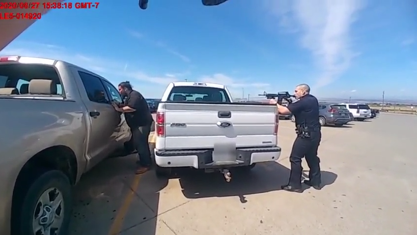 Graphic video shows police shooting alleged Walmart distribution center attacker