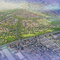 This aerial rendering shows what Hitch Ranch could look like once completed.