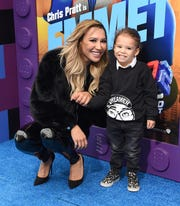 "Naya Rivera and son Josey Hollis Dorsey at the premiere of ""The Lego Movie 2: The Second Part"" on Feb. 2, 2019 in Westwood, California."