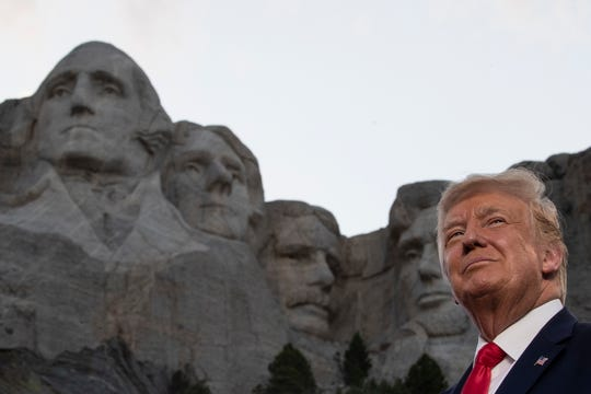 President Donald Trump at Mount Rushmore National Memorial on July 3, 2020, near Keystone, South Dakota.