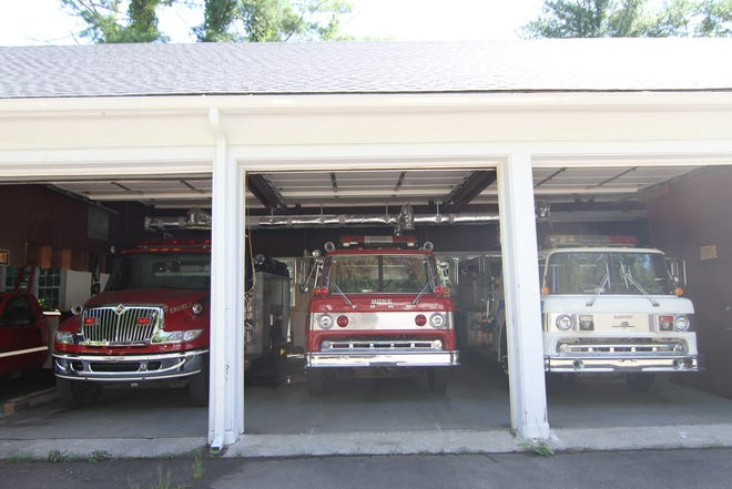The fleet of Hot Springs Fire Department trucks now sit inside a renovated garage on Forest Service Drive.