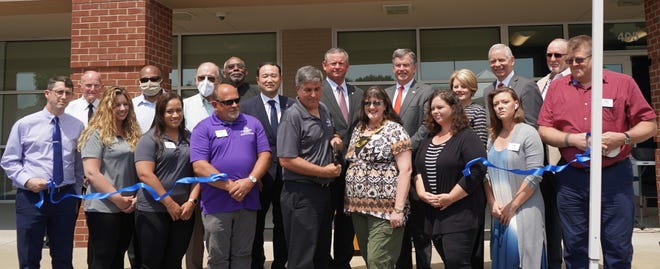 The Montgomery County Veterans Service Organization (VSO) celebrated the opening of their new office space with a ribbon-cutting on Monday, July 6, at Veterans Plaza.