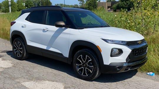 2021 Chevrolet Trailblazer SUV on Belle Isle in Detroit.