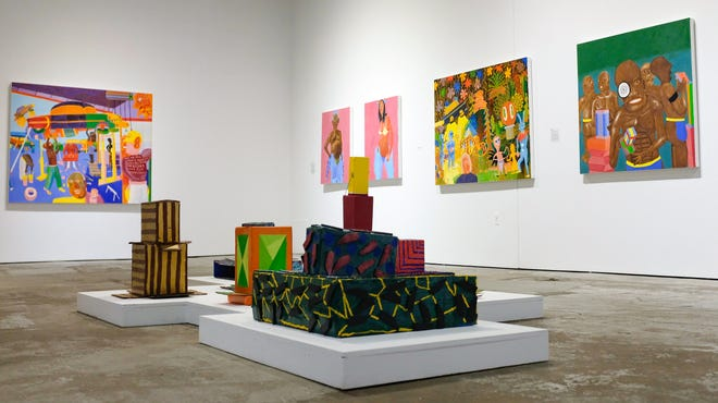 An exhibit by painter Peter Williams is one of the exhibits currently on display at the Museum of Contemporary Art Detroit (MOCAD).