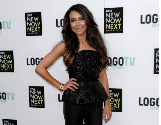 "FILE - Actress Naya Rivera arrives at Logo's NewNowNext Awards in Los Angeles on April 13, 2013. Authorities say former ""Glee"" star Naya Rivera is missing and being searched for at a Southern California lake."