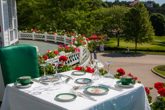 Grand Hotel outdoor dining 2020