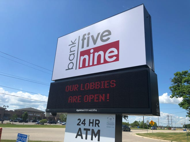 Bank Five Nine announced Monday that branch lobby access will be temporarily suspended at all of its locations starting Wednesday because of the continued coronavirus surge in Wisconsin.