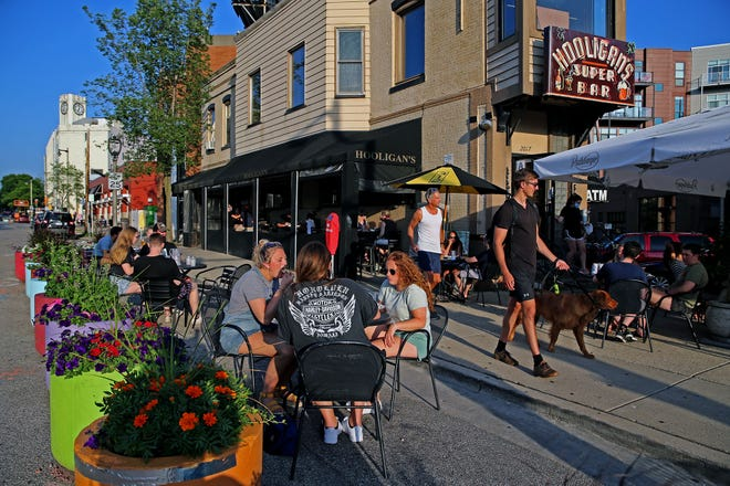 Hooligan's Super Bar, 2017 E. North Ave., was one of the 42 Milwaukee taverns and restaurants to create additional outside seating in summer through the city's Active Streets for Businesses pilot program. The Milwaukee Common Council has extended the program through March 15.