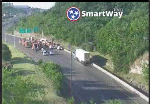 After an incident involving a semi-truck Friday evening, Interstate-65 northbound around Fern Avenue is closed in Nashville. Traffic is being sent to an alternative route.