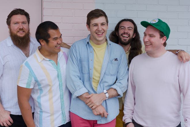 Left to right: Nick Melashanko, Joe Capati, Ed Isola, Sean Froehlich and Matthew Tonner of the Maitland-based band The 502s.