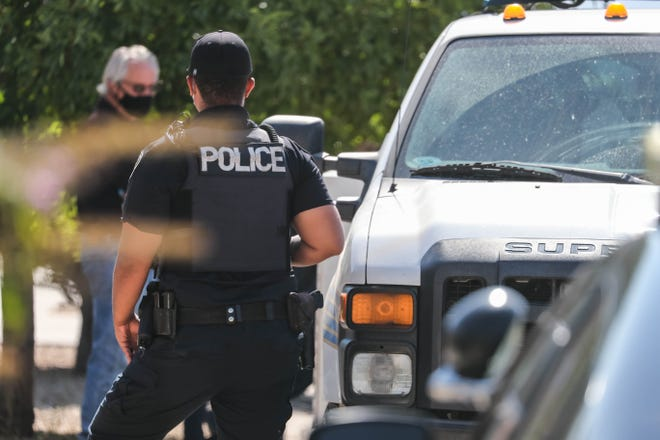 Las Cruces police investigate a shooting on Friday, July 10, 2020.