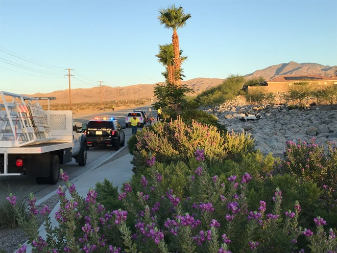 Desert Hot Springs police are investigating an early morning rollover crash on Pierson Boulevard, just west of Karen Avenue, on Friday, July 10, 2020.