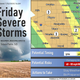 Severe storms are possible late Friday afternoon, evening and early in the overnight hours for the Sioux Falls area. Stronger storms are expected more toward central South Dakota and northern Nebraska.
