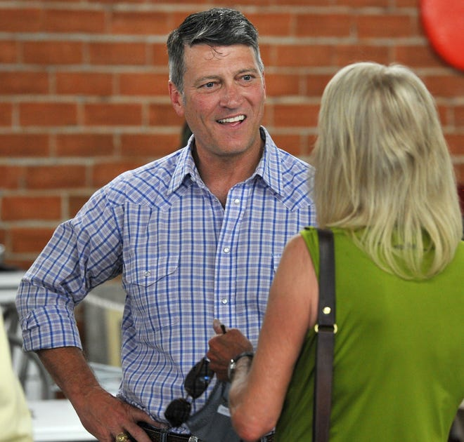 Dr. Ronny Jackson, 13th Congressional District GOP candidate, spoke with some locals Thursday during his stop at P's Crazy Car Museum in Wichita Falls.