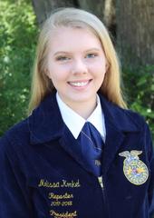 Section 10 State FFA Officer Melissa Konkel