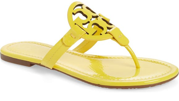 These flip flops have a buttery-smooth leather lining.