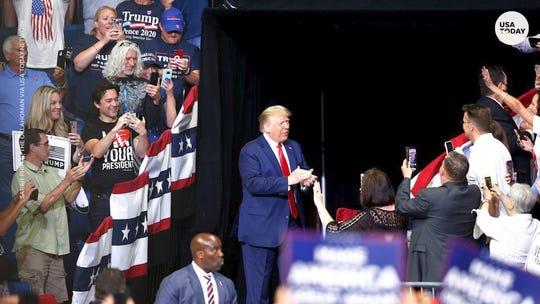 Trump postpones New Hampshire campaign rally, citing Tropical Storm Fay