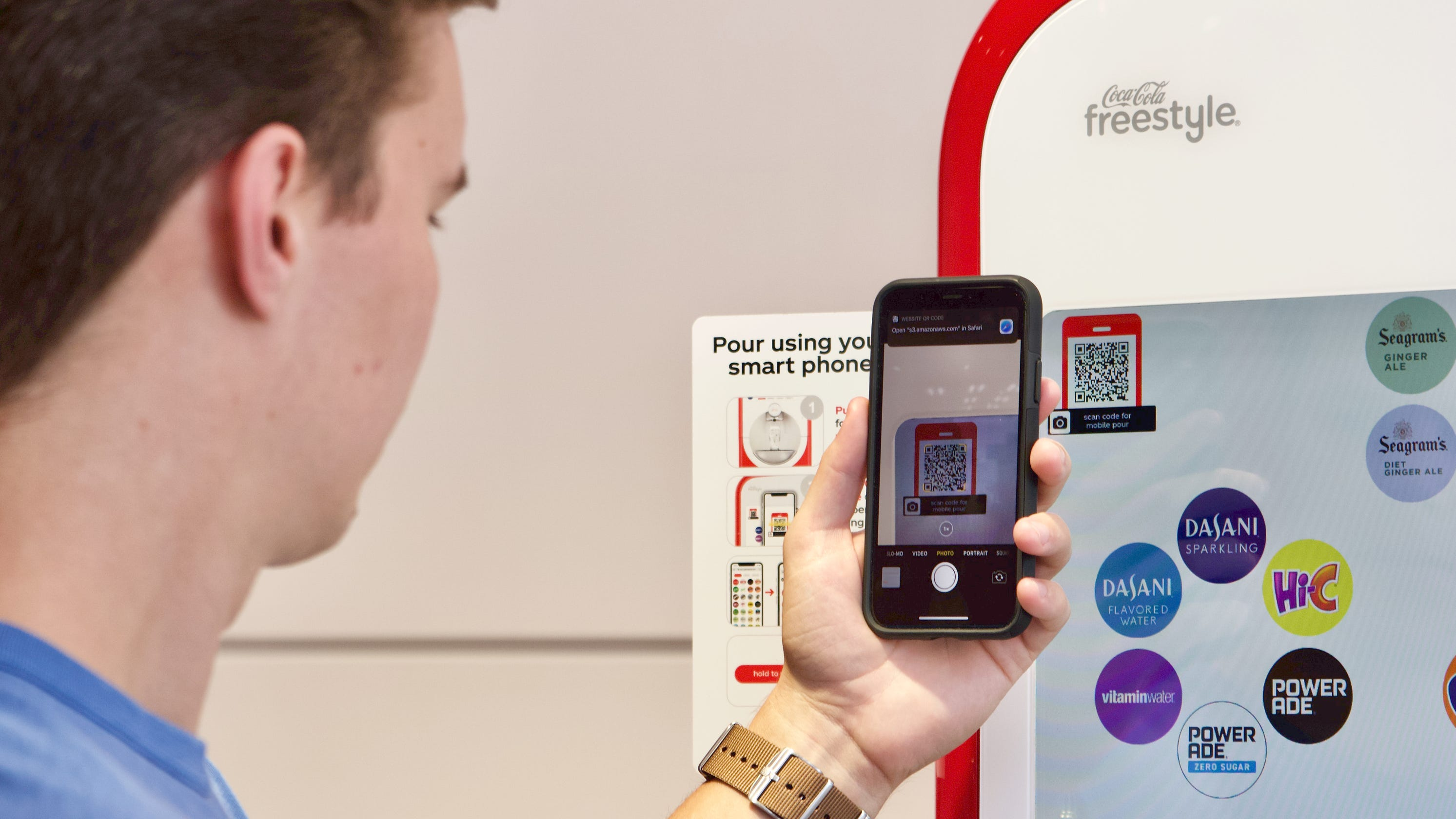 Contactless Coca-Cola Freestyle Machine