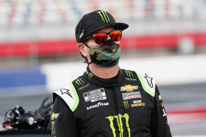 Kurt Busch is one of three drivers seeking their third NASCAR Cup win at Kentucky Speedway. GERRY BROOME/AP