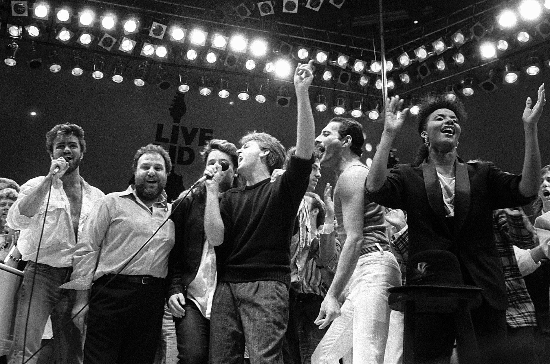 Live Aid concert raised money for famine...