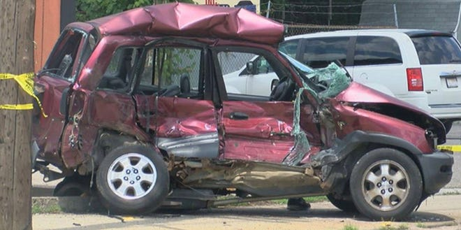 Police were on the scene of a serious injury crash in Price Hill Friday, July 10, 2020.