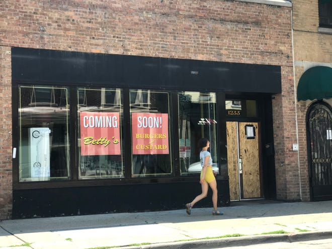 Betty's Burgers & Custard could open as soon as July 15 at 1233 E. Brady St., selling butter burgers and other sandwiches, as well as cones and sundaes.