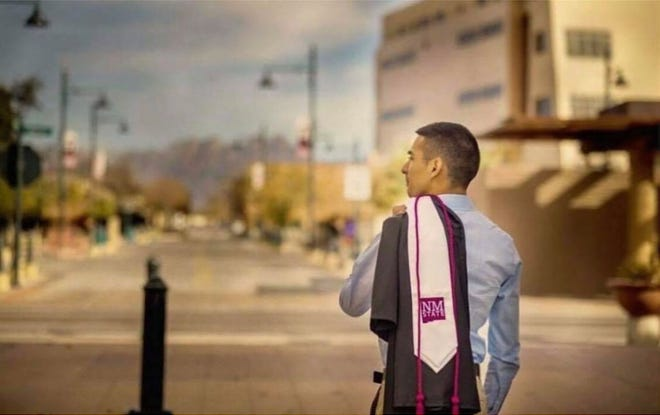 Carlos Avila in 2017 when he graduated with his bachelor's degree in elementary education.