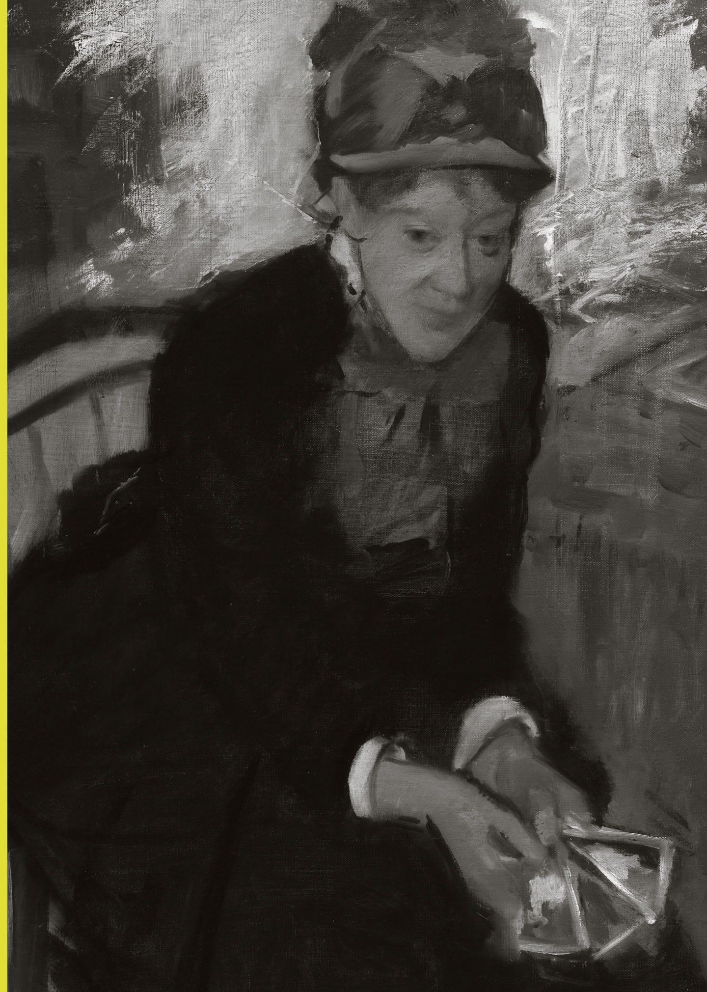 Portrait of Mary Cassatt by Edgar Degas