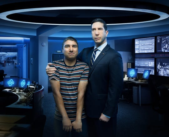 Englishman Joseph (Nick Mohammed) (left) and American Jerry (David Schwimmer) cause some strange cyber investigators in the new Peacock comedy.