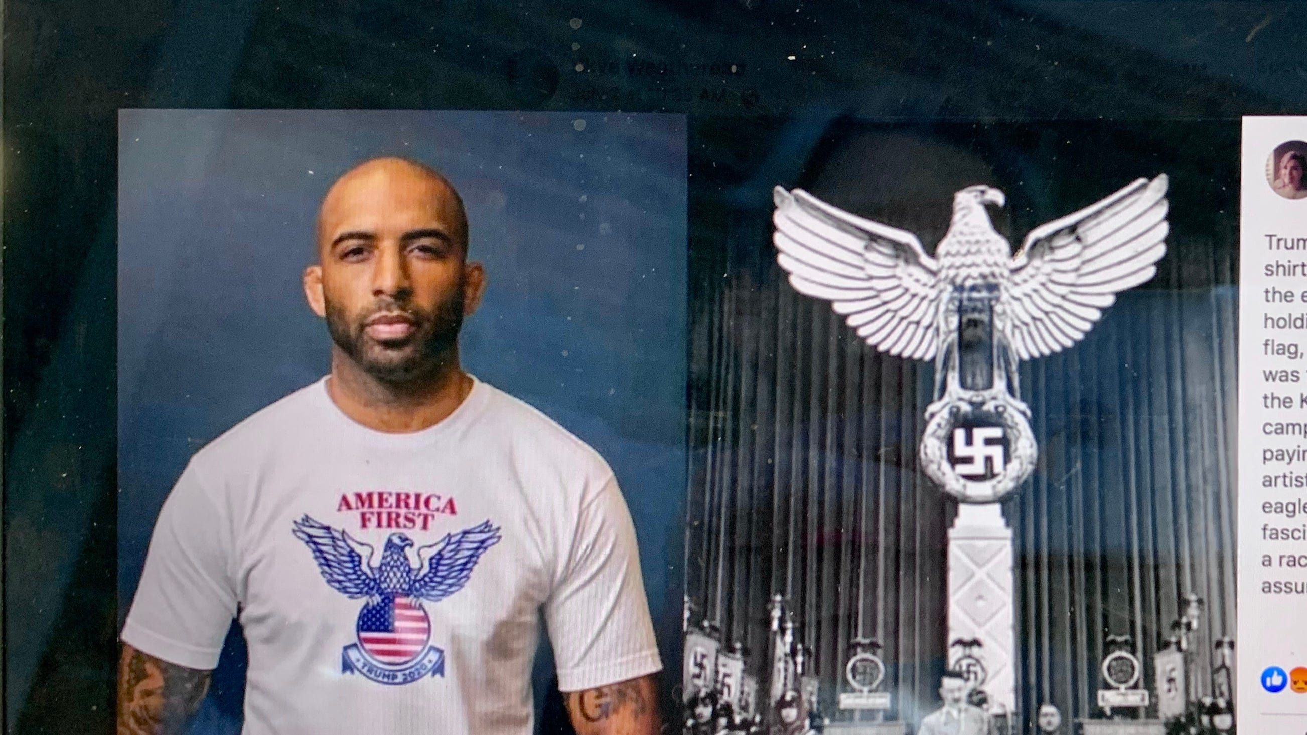 Fact check: Trump campaign accused of T-shirt design with similarity to Nazi eagle