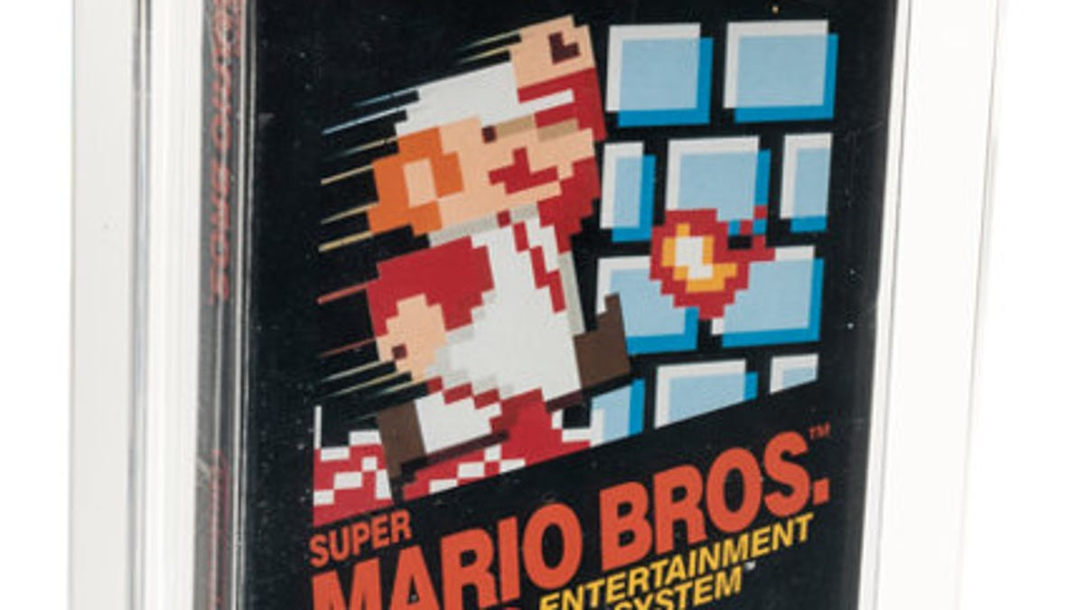 Super Mario Bros Game Sets New Record With 114 000 Auction Sale