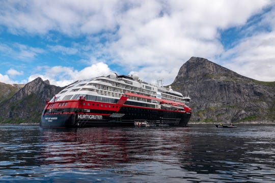 "Hurtigruten passenger Ulrich Slotta said the mood on board was positive. ""Everyone is happy that such trips are possible again,"" he said."