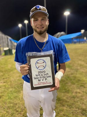 Dom Vincelli of Spotswood was named the North vs. South GMC Senior All-Star Game Most Valuable Player.