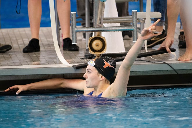 At Texas, Claire Adams won 23 Big 12 titles and became a three-time conference swimmer of the year.