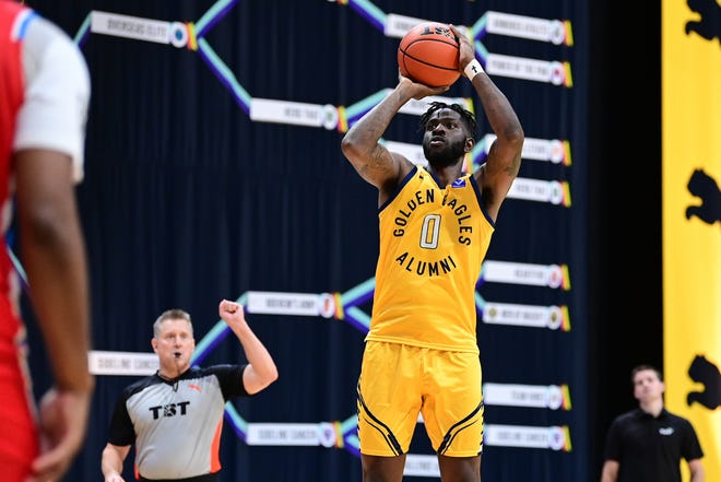 The Golden Eagles' Jamil Wilson scored 23 points against Red Scare on Sunday.