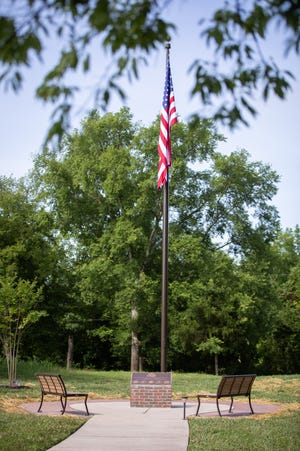 Veterans Walk at Durham Farms is a place for quiet reflection.