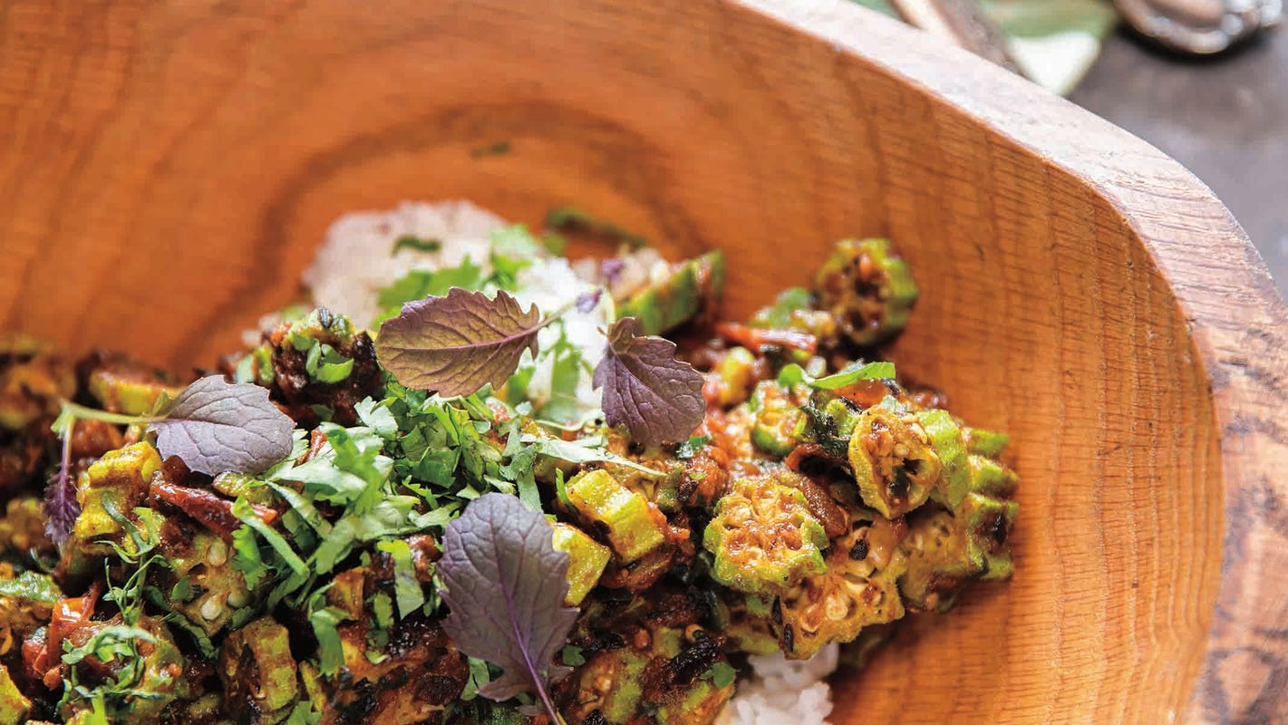 Try a new take on okra with this Indian dish from an Asheville, N.C. chef