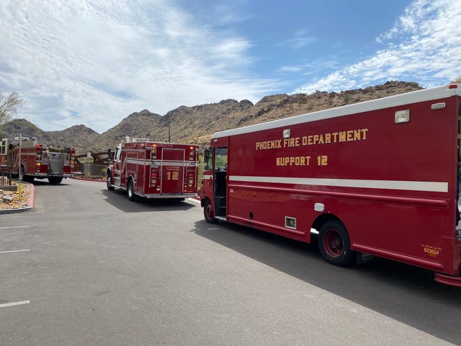 The Phoenix Fire Department responds to a mountain rescue at Piestewa Peak on July 12, 2020.