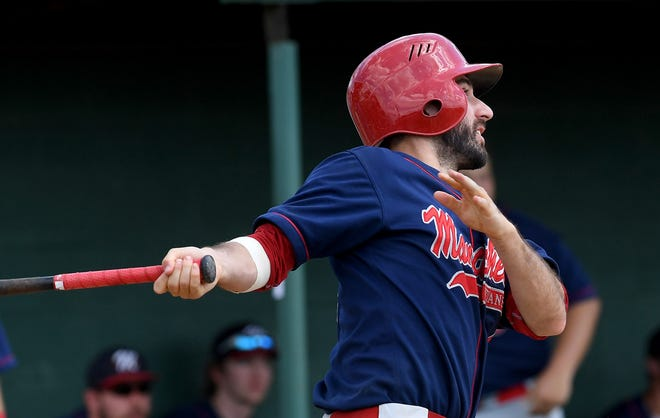 Logan Allison led Manchester's 17-hit attack on Saturday with three hits, including a pair of doubles, to go with three RBIs and two runs scored.