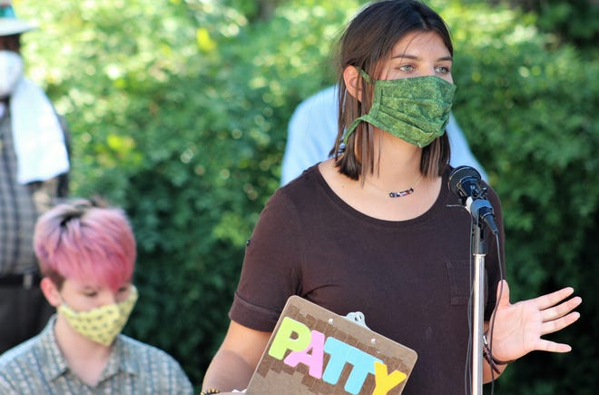 Patterson Newton, who attended Lee Elementary School, said she always will be a Lee Lion but the school name should be changed. Wearing a face mask while she spoke, Newton was one of several speakers at an outdoor rally Monday at Everman Park. There, the Abilene ISD was asked to change the names of four elementary schools named for Confederate figures.