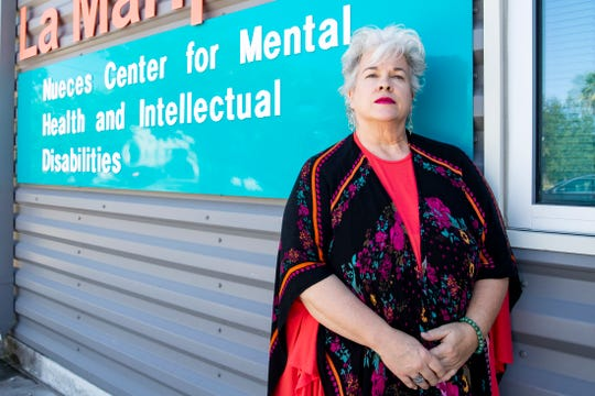 Sandra Scavo a peer specialist for the Nueces Center for Mental Health and Intellectual Disabilities.