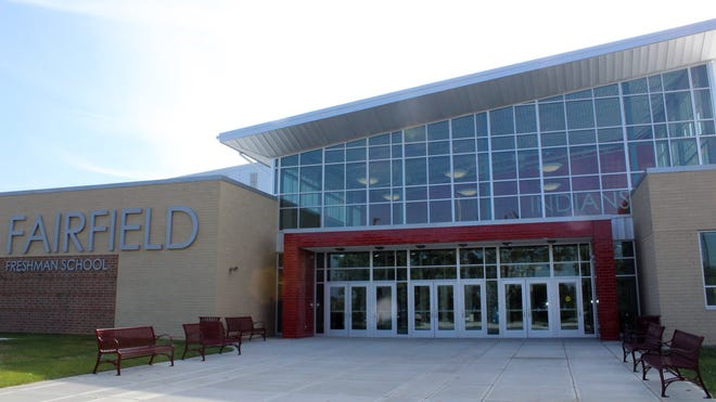 When classes resume in the Fairfield Schools visitors will be discouraged from coming any of the buildings, including the freshman school pictured here, to protect against the spread of the coronavirus.