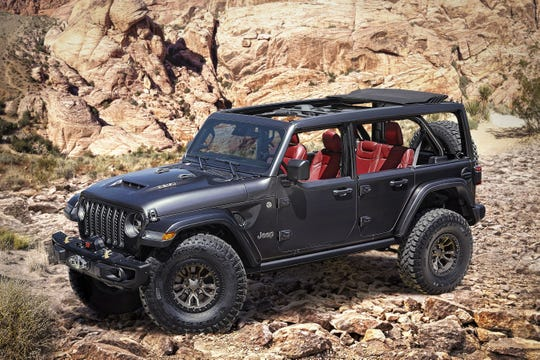 Jeep Introduces New 6.4-liter V-8 Wrangler Rubicon 392 Concept on Monday, July 13, 2020.