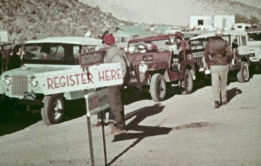 A screen capture from a 1966 commercial for the first model year of the Ford Bronco shows the Ford Bronco is situations like the Jeep, one of the Bronco's main competitors. The commercial titled, 'A Breed Apart,' was an effort to show the Bronco's off-road capabilities combined with versatility as a family wagon.