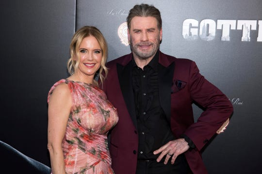 Kelly Preston and John Travolta in 2018.