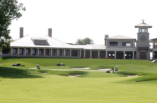 The No. 18 green and clubhouse at Muirfield Village Golf Club in Dublin, Ohio, site of this week's Memorial.