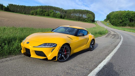The Toyota GR Supra is at home on a race track — or on twisty roads like M-32 in northern Michigan.